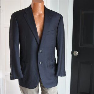 Designer Suit Coat by Canali Blue Size 54/44 US